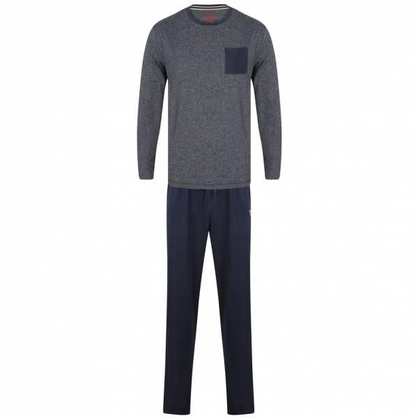 Tokyo Laundry Jeddo Cotton Lounge Ensemble Hommes Pyjama Ensemble 1Q9806 Marine
